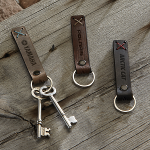 Bailey Leather Riveted Keychain