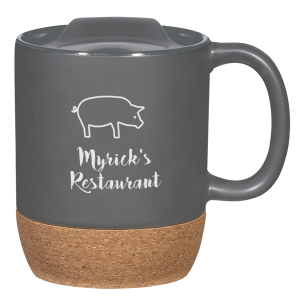 14 Oz. Cork Base Ceramic Mug